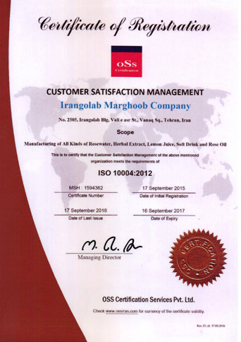 ISO 10004 Certificate